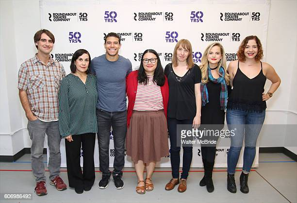 Director Kip Fagan Socorro Santiago Alex Hernandez Carmen Herlihy Crystal Finn Stephanie Styles and playwright Jenny Rachel Weiner from The...
