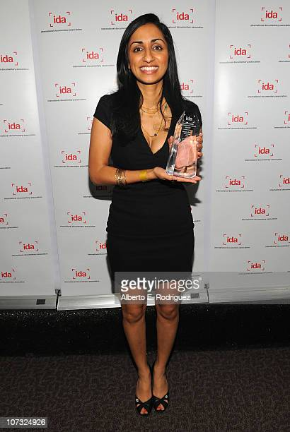 Director Kiran Deol arrives at the International Documentary Association's 26th annual awards ceremony at the Directors Guild Of America on December...