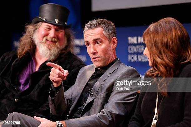 Director Kirk Thatcher Jay Harrington and Mary Steenburgen speak on stage at a Screening Of Lifetime Television's Turkey Hollow at The Paley Center...