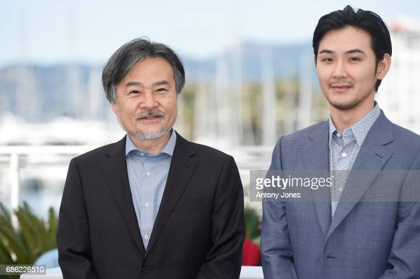 Director Kiyoshi Kurosawa and actor Ryuhei Matsuda attend the 'Before We Vanish ' photocall during the 70th annual Cannes Film Festival at Palais des...