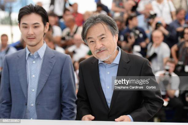 Director Kiyoshi Kurosawa and Ryuhei Matsuda attend the 'Before We Vanish ' photocall during the 70th annual Cannes Film Festival at Palais des...