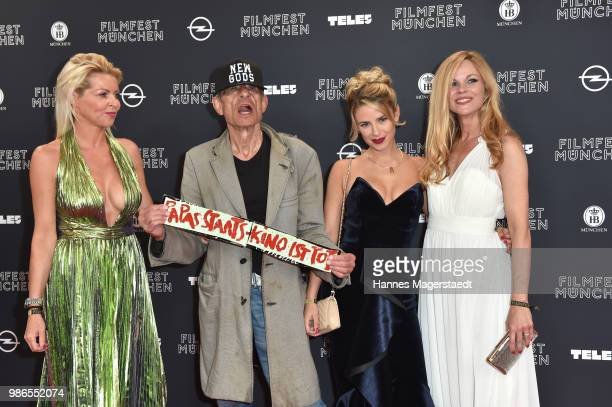 Director Klaus Lemke and his cast during the opening night of the Munich Film Festival 2018 at Mathaeser Filmpalast on June 28 2018 in Munich Germany