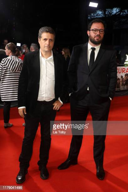 Director Kleber Mendonca and Director Juliano Dornelles attend the Bacurau UK Premiere during the 63rd BFI London Film Festival at Odeon Luxe...