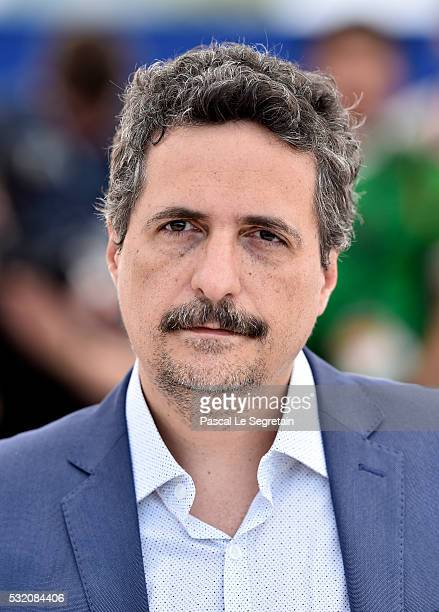 Director Kleber Mendonca Filho attends the 'Aquarius' photocall during the 69th Annual Cannes Film Festival at the Palais des Festivals on May 18...