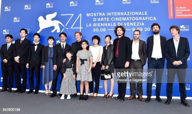 Director Kohei Igarashi actor Takara Kogawa director Damien Manivel actresses Keiki Kogawa and Chisato Kogawa attend the 'The Night I Swam '...