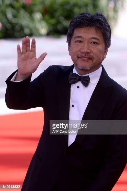 Director KoreEda Hirokazu attends the Premiere of the movie 'Sandome No Satsujin' presented in competition at the 74th Venice Film Festival on...