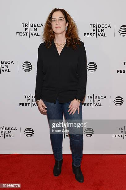 Director Kristi Jacobson attends the SOLITARY premiere during the 2016 Tribeca Film Festival at Chelsea Bow Tie Cinemas on April 16 2016 in New York...