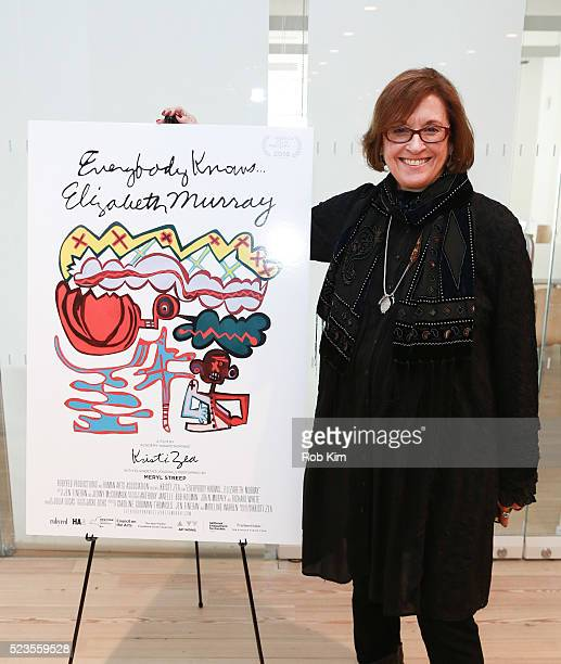 """Director Kristi Zea attends the premiere of """"Everybody Knows... Elizabeth Murray"""" during the 2016 Tribeca Film Festival at Whitney Museum of American..."""