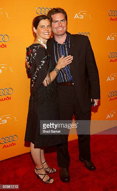Director Kristina Higgins and Director of Marketing Audi Stephen Berkov arrive to AFI Fest And Audi's Wrap Party For Emerging Filmmakers at Audi Park...