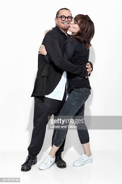 Director Kurt Sutter and actress Katey Sagal and photographed for Entertainment Weekly Magazine at the ATX Television Fesitval on June 10 2016 in...
