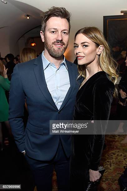Director Kyle Newman and actress Jaime King attends the Entertainment Weekly Celebration of SAG Award Nominees sponsored by Maybelline New York at...