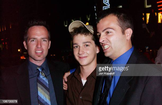 Director Kyle Rankin actor Shia LaBeouf and director Efram Potelle *Exclusive*