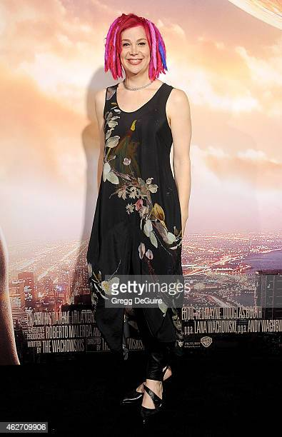 Director Lana Wachowski arrives at the Los Angeles premiere of Jupiter Ascending at TCL Chinese Theatre on February 2 2015 in Hollywood California
