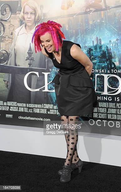 Director Lana Wachowski arrives at the Los Angeles premiere of Cloud Atlas at Grauman's Chinese Theatre on October 24 2012 in Hollywood California