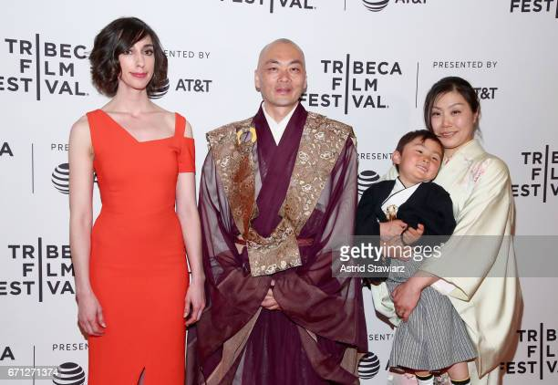 Director Lana Wilson Ittetsu Nemoto Teppei Nemoto and Yukiko Nemoto attend The Departure Premiere during 2017 Tribeca Film Festival at Cinepolis...