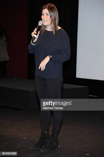 """Director Lara Stolman attends the New York premiere of """"Swim Team"""" at DOC NYC on November 17, 2016 in New York City."""