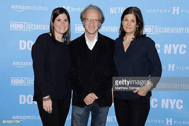 """Director Lara Stolman, composer Mark Suozzo and editor Ann Collins attend the New York premiere of """"Swim Team"""" at DOC NYC on November 17, 2016 in New..."""