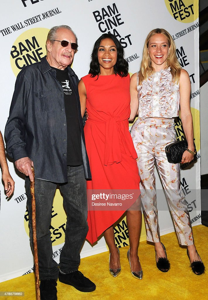 Director Larry Clark with actresses Rosario Dawson (C) and Chloe Sevigny attend BAMcinemaFest 2015 'Kids' 20th Anniversary Screening at BAM Peter Jay Sharp Building on June 25, 2015 in New York City.