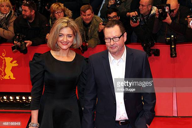 Director Lars von Trier and Bente Froge attend the 'Nymphomaniac Volume I ' premiere during 64th Berlinale International Film Festival at Berlinale...