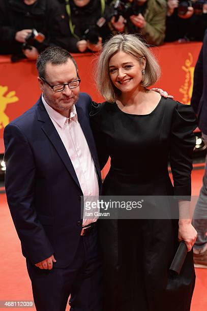 Director Lars von Trier and his wife Bente attend the 'Nymphomaniac Volume I ' premiere during 64th Berlinale International Film Festival at...
