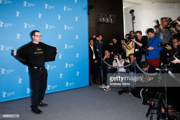 Director Lars von Trier attends the 'Nymphomaniac Volume I' photocall during 64th Berlinale International Film Festival at Grand Hyatt Hotel on...