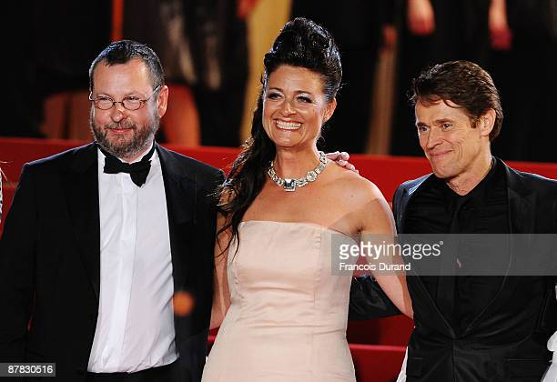 Director Lars von Trier Bente Froge and actor Willem Dafoe attend the Antichrist Premiere held at the Palais Des Festivals during the 62nd...