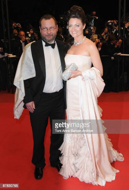 Director Lars von Trier Bente Froge attend the 'Antichrist' premiere at the Grand Theatre Lumiere during the 62nd Annual Cannes Film Festival on May...