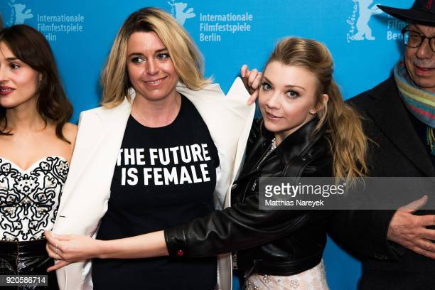 Director Larysa Kondracki and Natalie Dormer attend the 'Picnic at Hanging Rock' premiere during the 68th Berlinale International Film Festival...