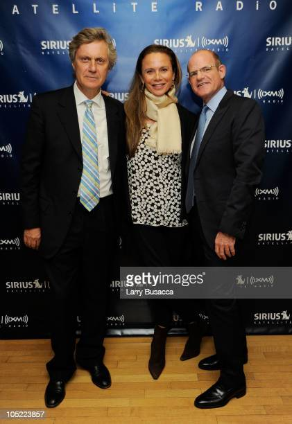 Director Lasse Hallstrom Actress Lena Olin and President of SIRIUS XM Radio Scott Greenstein attend the Launch of The World Childhood Foundation USA...