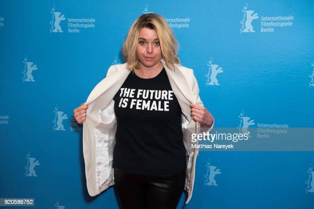 Director Lasysa Kondracki attends the 'Picnic at Hanging Rock' premiere during the 68th Berlinale International Film Festival Berlin at Zoo Palast on...