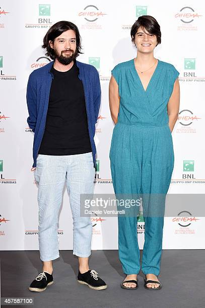 Director Laura Amelia Guzman Conde and Director Israel Cardenas attend 'Dolares De Arena' Photocall during the 9th Rome Film Festival at Auditorium...