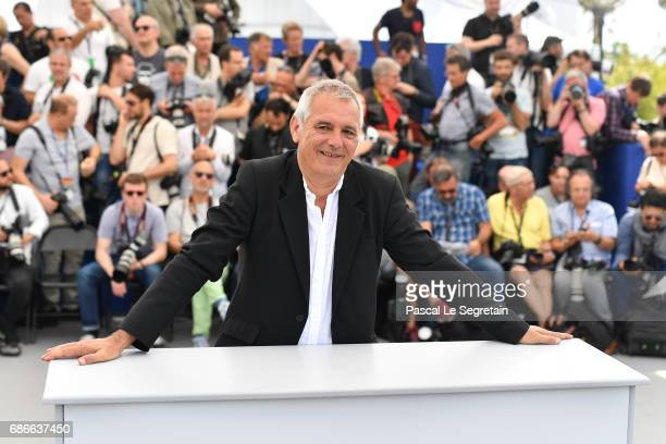 Director Laurent Cantet attends the 'L'Atelier' photocall during the 70th annual Cannes Film Festival at Palais des Festivals on May 22 2017 in...