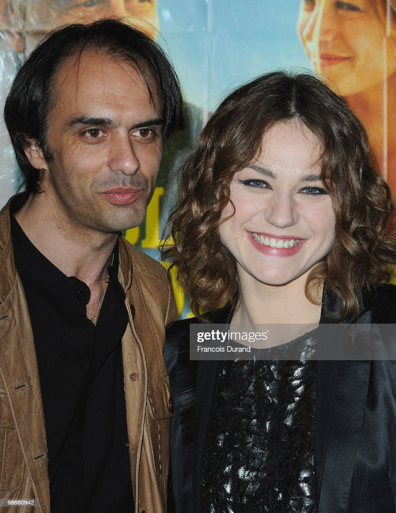 Director Laurent Vinas-Raymond (R) and actress Emilie Dequenne attend the premiere for 'J'ai Oublie de te Dire' at Le Cinema des Cineastes on April 26, 2010 in Paris, France.