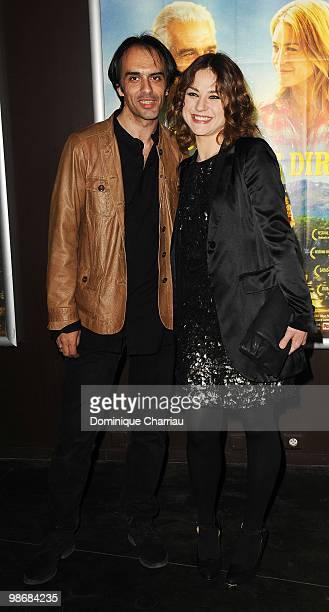 Director Laurent Vinas-Raymond and actress Emilie Dequenne attend the 'J'ai Oublie de te Dire' premiere at Le Cinema des Cineastes on April 26, 2010...