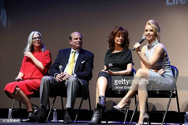 Director Laurie Collyer executive producer Stephen Kronish actress Susan Sarandon and actress Kelli Garner attend Lifetime's 'The Secret Life of...
