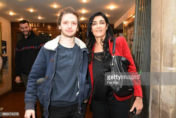 Director Laurier Fourniau and actress Fatima Adoum attend 'Low Notes' Film Screening at Cinema Saint Andre des Arts on April 6 2017 in Paris France