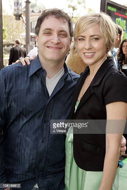 Director Lawrence Guterman and Traylor Howard during Son of the Mask Los Angeles Premiere Green Carpet at The Grove in Los Angeles California United...
