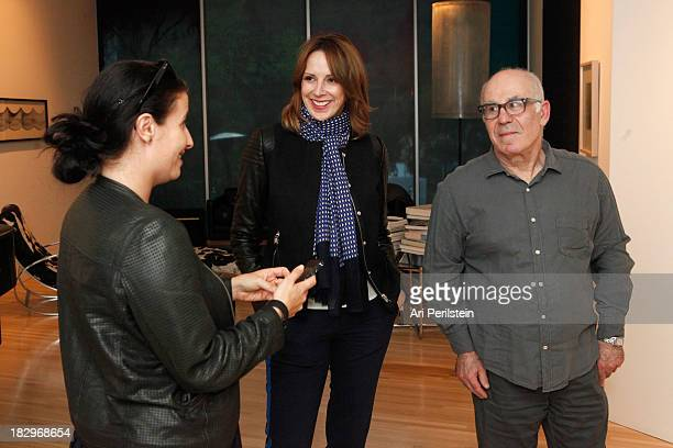 Director LAXART Lauri Firstenberg LA Confidential Publisher Alison Miller and Peter Gelles attend Los Angeles Confidential And Merrrill Lynch Wealth...