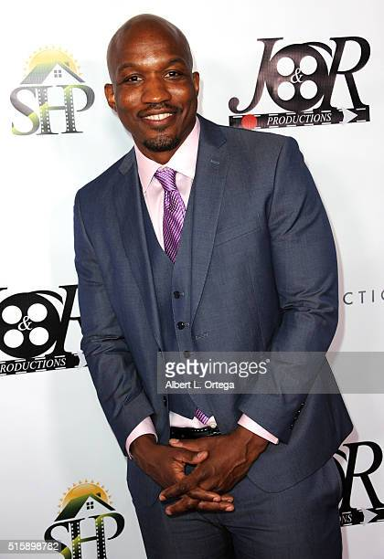 Director LazRael Lison arrives for the Premiere Of JR Productions' Halloweed held at TCL Chinese 6 Theatres on March 15 2016 in Hollywood California