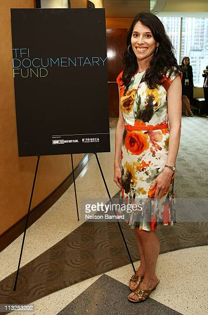 Director Leah Wolchok attends the HBO TFI Doc Fund Reception and Panel during the 2011 Tribeca Film Festival at HBO Screening Room on April 28 2011...