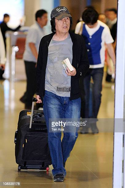 Director Lee ChangDong arrives at the airport on May 25 2010 in South Korea