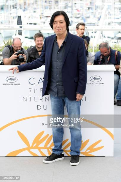 Director Lee Changdong attends the photocall for the 'Burning' during the 71st annual Cannes Film Festival at Palais des Festivals on May 17 2018 in...