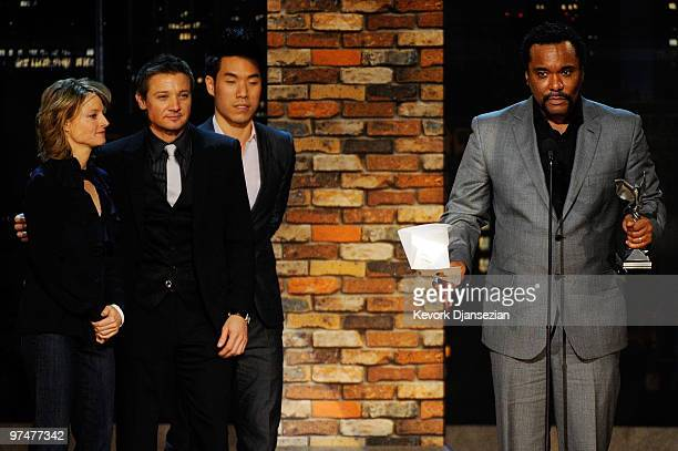 Director Lee Daniels accepts Best Director for Precious from presenters Jodie Foster and Jeremy Renner onstage during the 25th Film Independent's...
