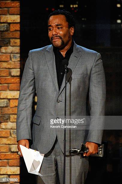 Director Lee Daniels accepts the Best Director award for Precious onstage during the 25th Film Independent's Spirit Awards held at Nokia Event Deck...