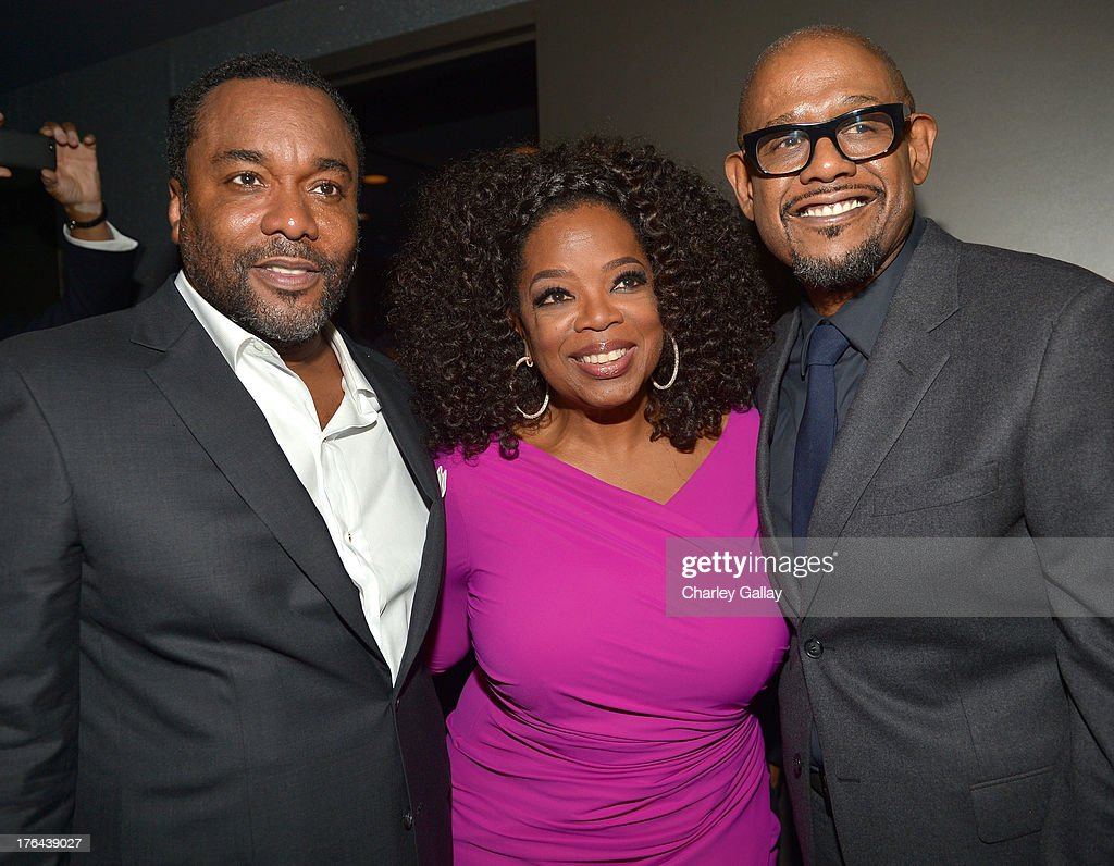 Director Lee Daniels, actors Oprah Winfrey, and Forest Whitaker attend the after party for LEE DANIELS' THE BUTLER Los Angeles premiere, hosted by TWC, Budweiser and FIJI Water, Purity Vodka and Stack Wines, held at the Ritz-Carlton on August 12, 2013 in Los Angeles, California.