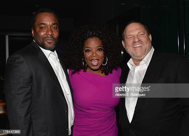 Director Lee Daniels actress Oprah Winfrey and Cochairman of The Weinstein Company Harvey Weinstein attend the after party for the Premiere Of The...