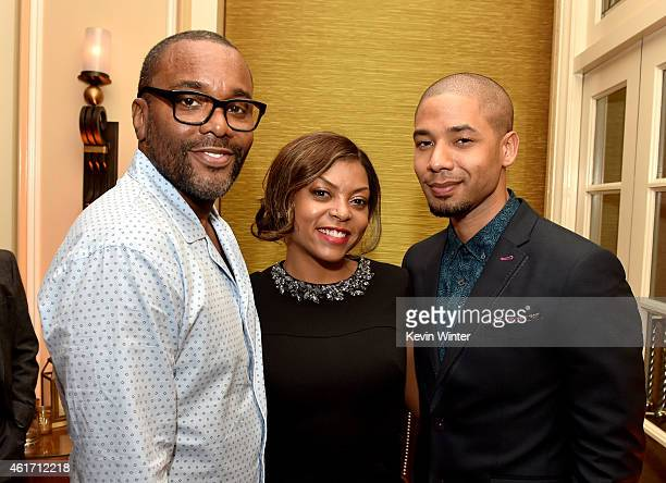 Director Lee Daniels actress Taraji P Henson and actor Jussie Smollett of Fox TV's Empire pose at the Fox Winter TCA AllStar Party at the Langham...