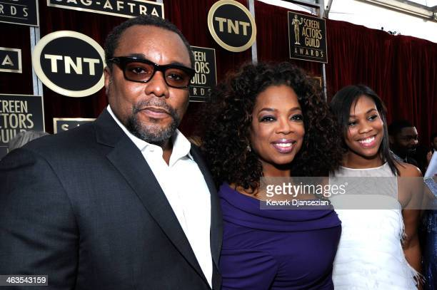 Director Lee Daniels actressTV personality Oprah Winfrey and Clara Daniels attend the 20th Annual Screen Actors Guild Awards at The Shrine Auditorium...