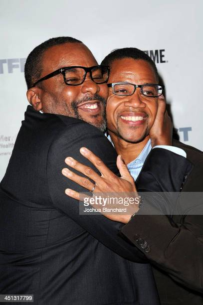 Director Lee Daniels and Actor Cuba Gooding Jr arrive at the 2013 Outfest Legacy Awards at the Orpheum Theatre on November 21 2013 in Los Angeles...
