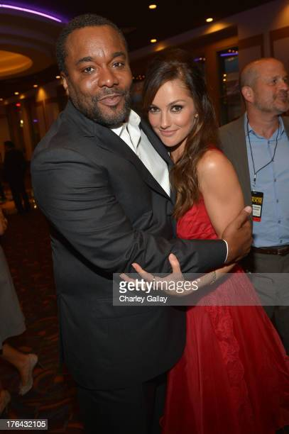 Director Lee Daniels and actress Minka Kelly attend LEE DANIELS' THE BUTLER Los Angeles premiere hosted by TWC Budweiser and FIJI Water Purity Vodka...